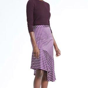 NWT Banana Republic Purple asymmetrical skirt